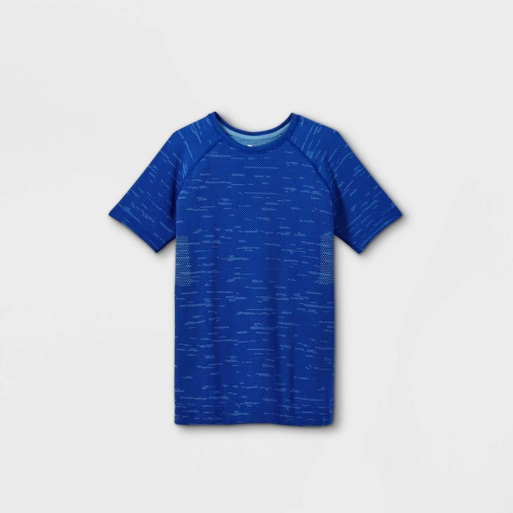 Boys 39 Short Sleeve Seamless T Shirt All In Motion 8482 Blue Xl