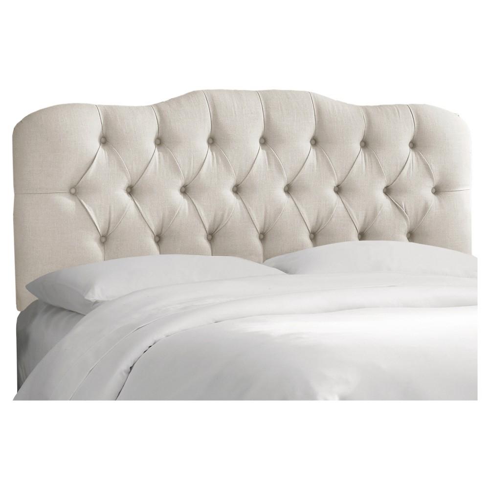 Seville Linen Headboard - Linen Talc - King - Skyline Furniture