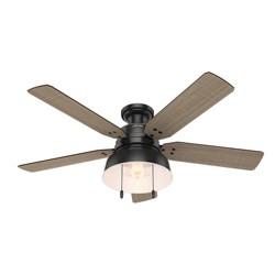 """52"""" Mill Valley Low Profile LED Lighted Ceiling Fan Matte Black - Hunter Fan"""