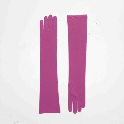 Forum Novelties Glamorous Purple Elbow Length Adult Nylon Costume Gloves