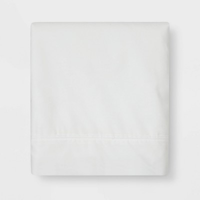 Ultra Soft Flat Sheet (Queen)White 300 Thread Count - Threshold™