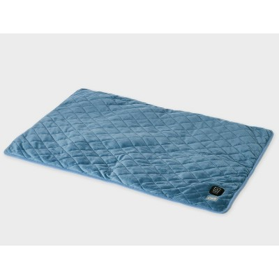 """Pure Enrichment WeightedWarmth 2-in-1 Weighted Body Pad with Warmer - 2lbs - 20"""" x 12"""" - Blue"""
