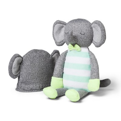 Plush and Hat Elephant - Cloud Island™ Gray