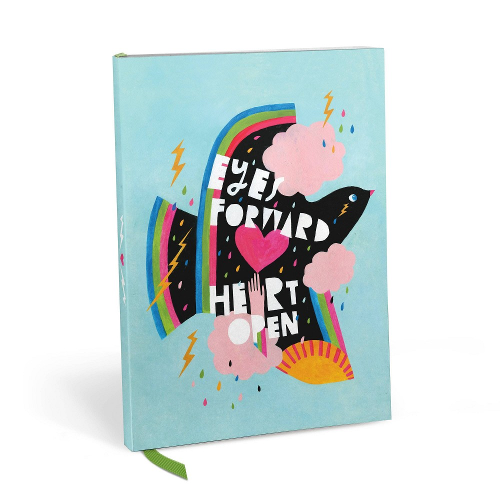 Image of Emily McDowell Lined Journal Soft Cover Eyes Forward Heart Open