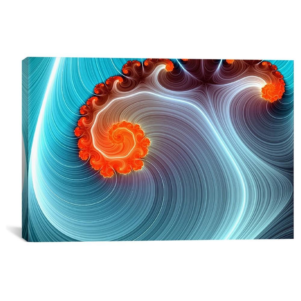 "Image of ""12"""" x 18"""" Blue Lagoon Canvas Print - iCanvas, Size: 12 x 18, Orange Purple Blue Multicolored"""