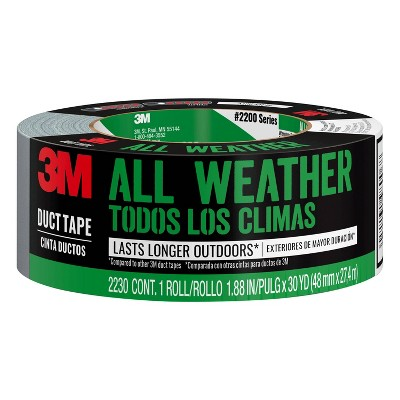 """3M Company 1.88"""" x 30 yd All Weather Duct Industrial Tape"""