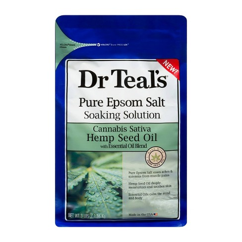 Dr Teal's Hemp Seed Oil Epsom Soak - 48oz - image 1 of 3