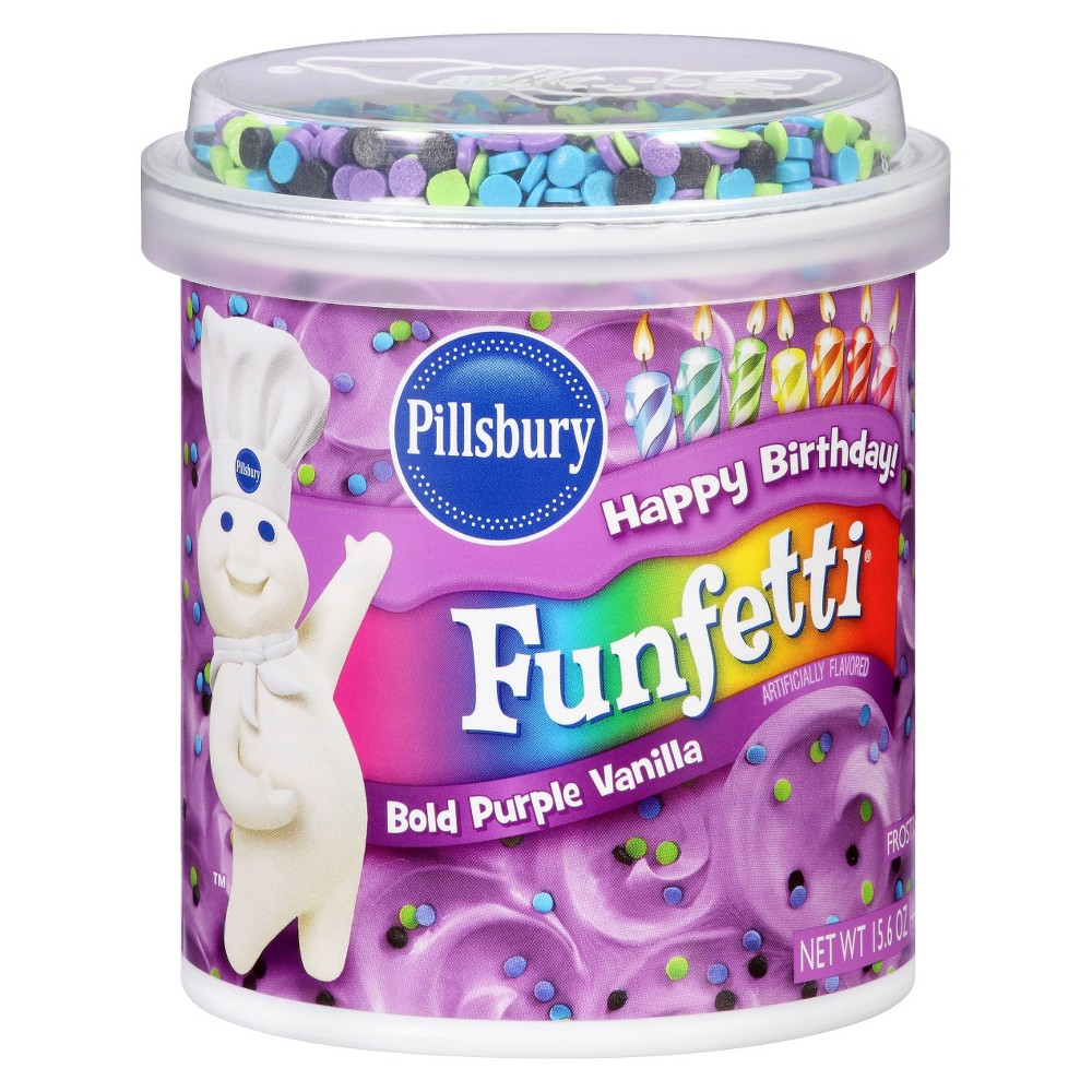 Pillsbury Bold Purple Vanilla Funfetti Frosting 15.6 oz