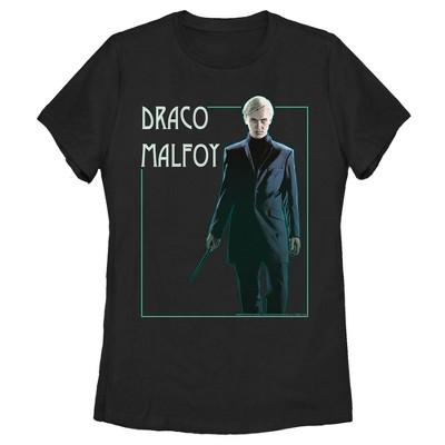 Women's Harry Potter Draco Malfoy Simple Framed Portrait T-Shirt