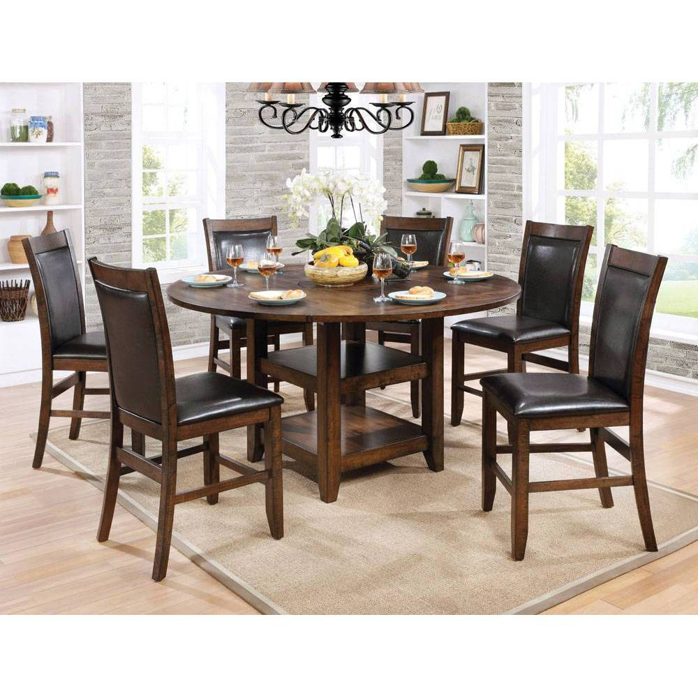 65 Drago Round Counter Height Dining Table Cherrywood - Sun & Pine