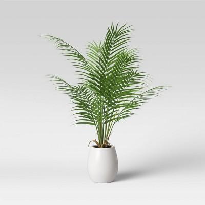 Faux Mini Palm Tree in Pot White/Green - Opalhouse™