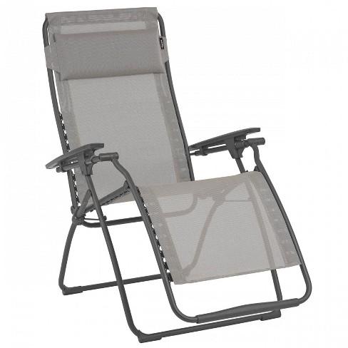 Fantastic Lafuma Futura Zero Gravity Outdoor Steel Framed Lawn Recliner Chair In Terre Machost Co Dining Chair Design Ideas Machostcouk