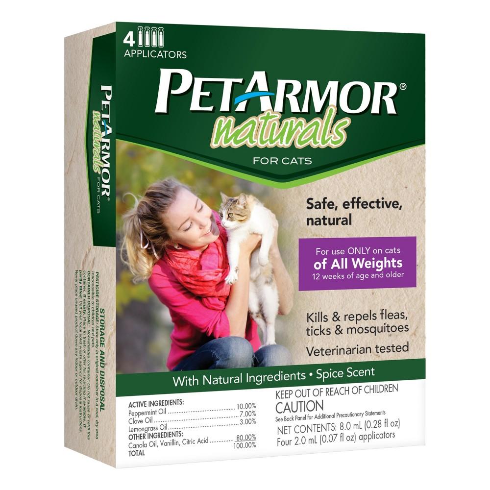PetArmor Naturals Spot On Pet Insect Treatment - 4ct