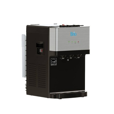Brio Countertop Self Cleaning Bottleless Water Cooler Dispenser with Filtration and 3 Temp Settings