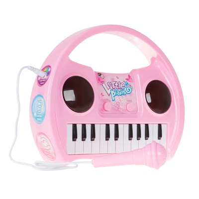 Hey! Play! Kids Lighted Karaoke Machine with Microphone