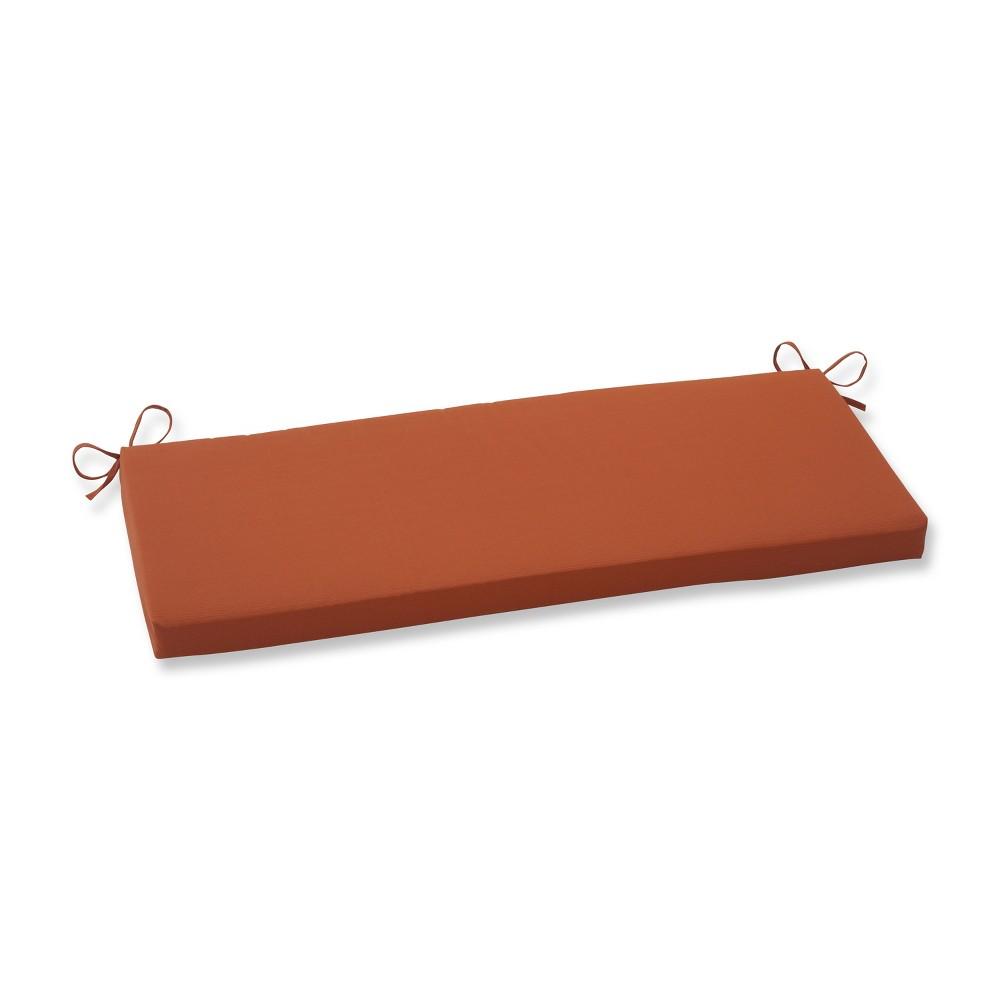 Outdoor Bench Cushion - Burnt Orange Fresco Solid, Brnt Org Sld
