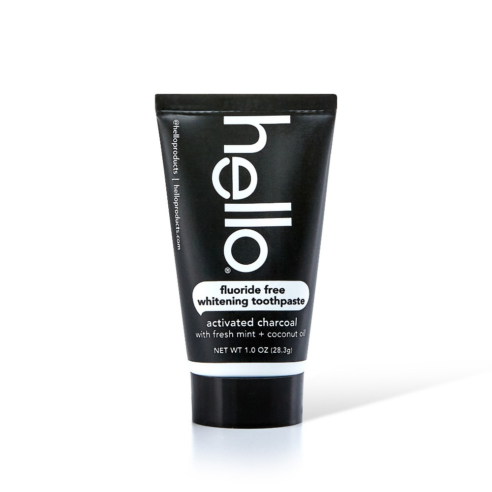 Hello activated Charcoal Whitening Trial/travel toothpaste - 1oz