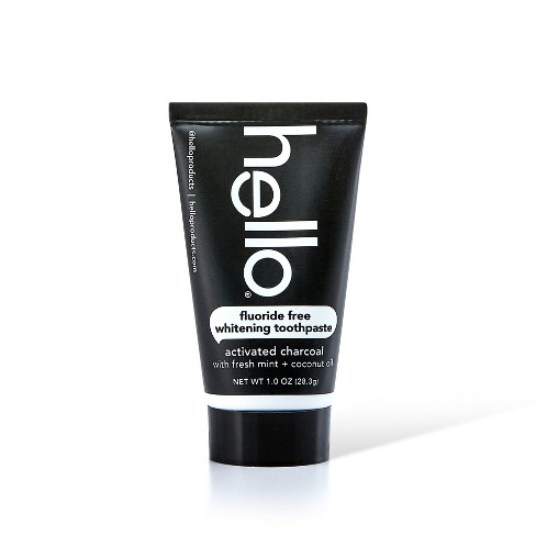 Hello Activated Charcoal Whitening Toothpaste Trial Size 1oz