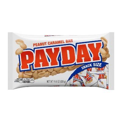Pay Day Snack Size Peanut Caramel Candy Bars - 11.6oz