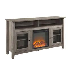 "58"" Wood Highboy Fireplace Media TV Stand Console - Saracina Home"
