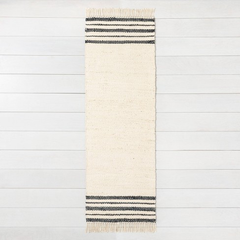 Jute Rug Charcoal Stripe - Hearth & Hand™ with Magnolia - image 1 of 4