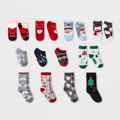 Boys\' 12pk Advent Box Socks - Cat & Jack™ M : Target
