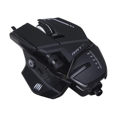 Mad Catz The Authentic R.A.T. 6+ Optical Gaming Mouse, Black ( MR04DCAMBL00 )