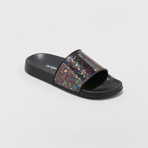 d197a31ca Girls' Kaisha Glitter Slide Sandals - Cat & Jack™ : Target