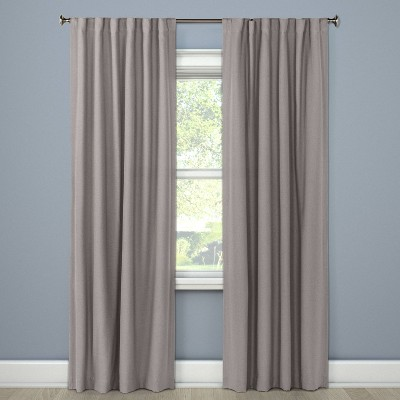 "50""x63"" Aruba Linen Blackout Curtain Panel Gray Stone - Threshold™"
