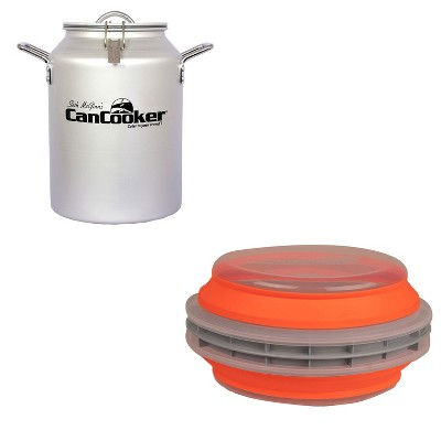 CanCooker CC-001-CN 4 Gallon Convection Steam Cooker for 20 People Bundle with CanCooker Batter Bowl XL Collapsible Food Batter/Breading Cooking Bowl