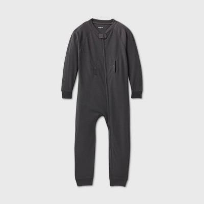 Toddler Adaptive Abdominal Access Pajama Jumpsuit - Cat & Jack™ Gray