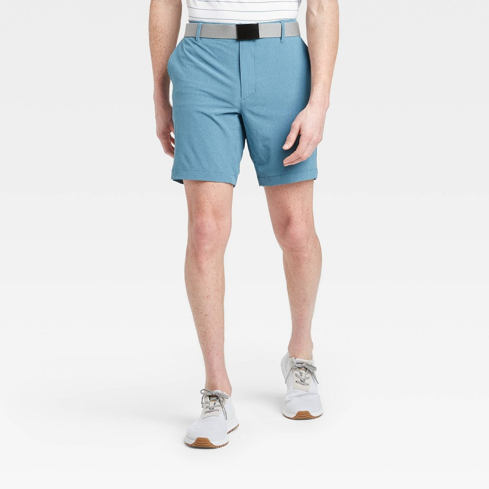 Men's Heather Golf Shorts - All in Motion Blue 42 was $30.0 now $20.0 (33.0% off)