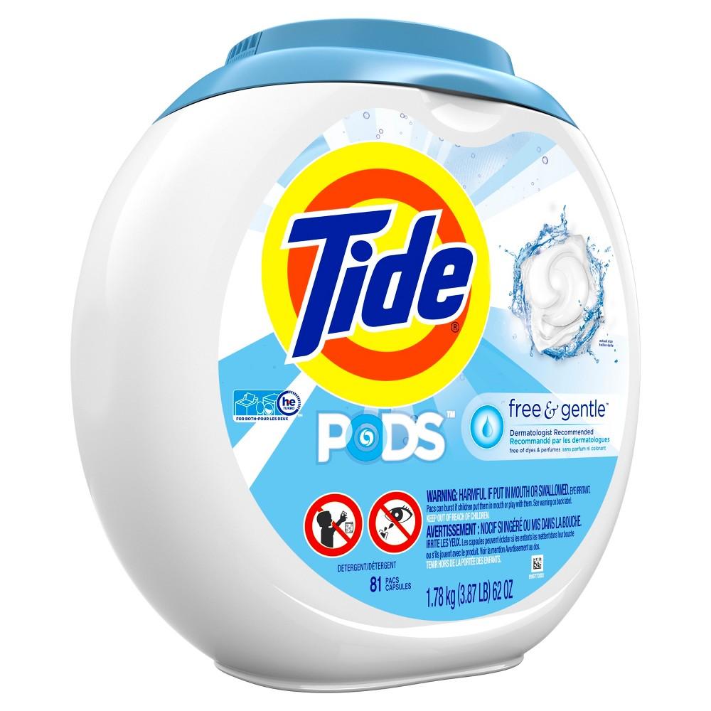 Tide Pods Free & Gentle Liquid Laundry Detergent Pods - 81ct