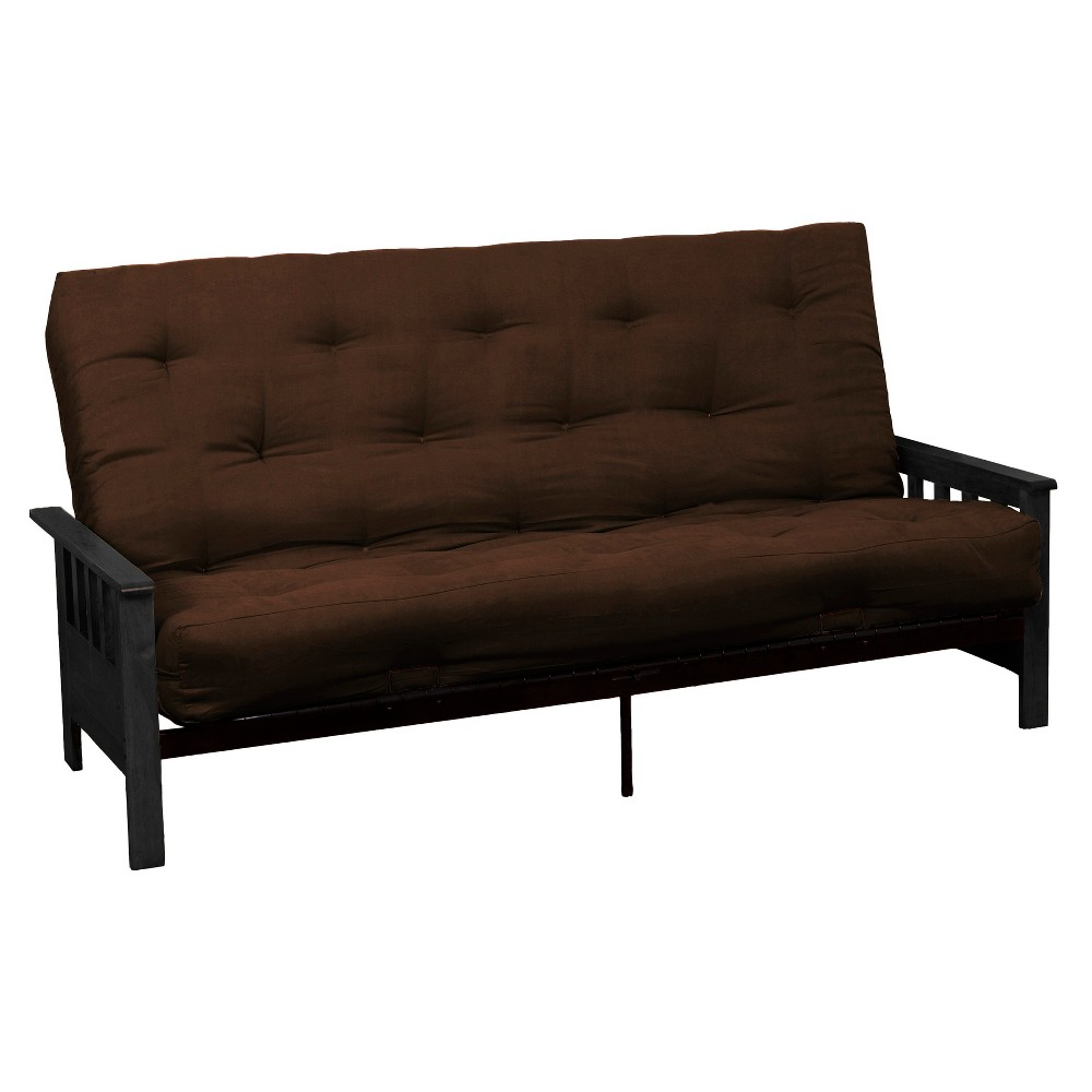 Mission 8 Cotton/Foam Futon Sofa Sleeper - Black Wood Finish - Epic Furnishings, Brown