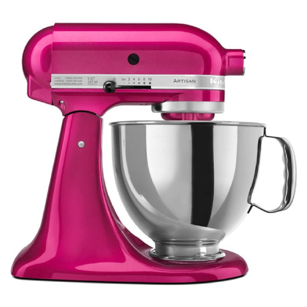 KitchenAid Refurbished 5qt Artisan Stand Mixer Raspberry Ice - RRK150RI, Raspberry White