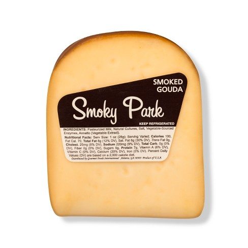 Smoky Park Smoked Gouda Cheese Wedge - 8oz - image 1 of 3