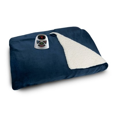 Velour Sherpa Electric Bed Blanket - Biddeford Blankets