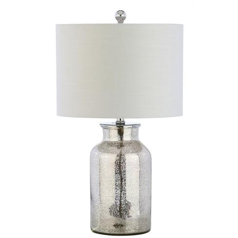 24 5 Esmee Mercury Glass Led Table Lamp Silver Includes Energy Efficient Light Bulb Jonathan Y