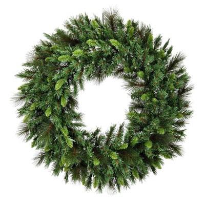 "Vickerman 60"" Bangor Mix Pine Wreath with 600 Clear Dura-lit lights"