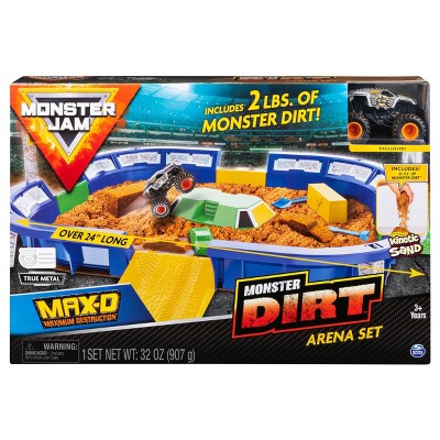 "Monster Jam Monster Dirt Arena 24"" Playset with  Exclusive 1:64 Scale Die-Cast Monster Jam Truck"