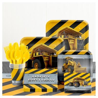 Birthday Zone Construction Birthday Party Supplies Kit
