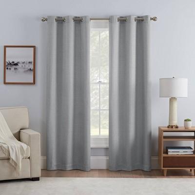 Set of 2 Carter Draft stopper Grommet Room Darkening Curtain Panels - Eclipse