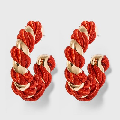 SUGARFIX by BaubleBar Two-Tone Croissant Hoop Earrings