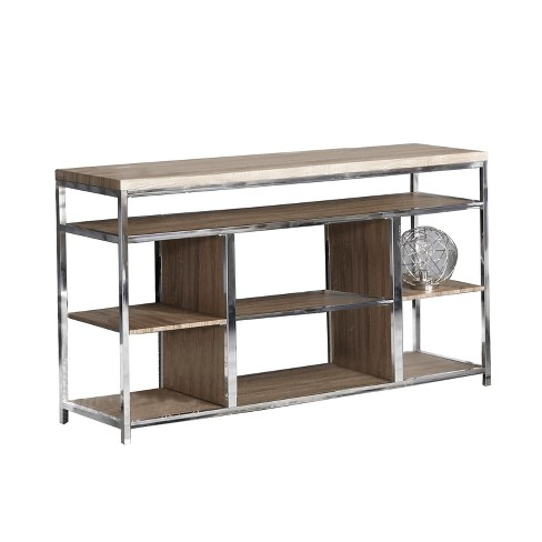 "42"" Metal TV Stand Silver - Home Source Industries - image 1 of 2"