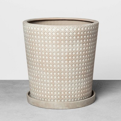 15'' Caning Planter Gray - Hearth & Hand™ with Magnolia