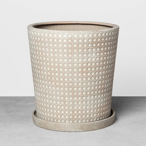 Caning Planter Gray - Hearth & Hand™ with Magnolia - image 1 of 2