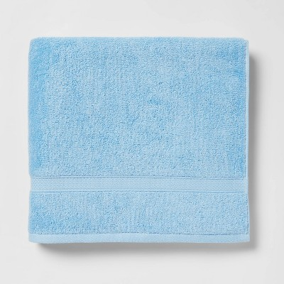 Soft Solid Bath Towel Light Blue - Opalhouse™