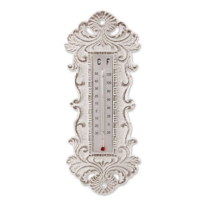 Outdoor Ornate Cast Iron Analog Thermometer - Zingz & Thingz