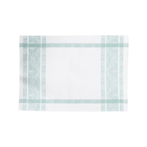 C&F Home Rose Trellis Jacquard Sea Glass Cotton Woven Placemat Set of 6 - image 1 of 2