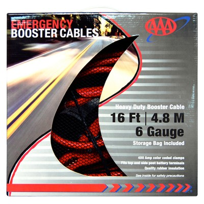 AAA Heavy-Duty 6-Guage 16' Booster Cables